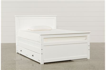 Summit White Full Panel Bed W/Trundle W/Mattress - Main
