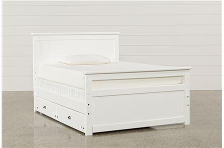 Summit White Full Panel Bed W/Trundle W/Mattress - Main
