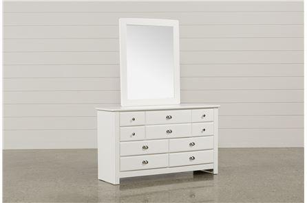 Summit White Dresser/Mirror - Main