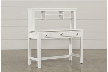 Summit White Desk/Hutch - Main