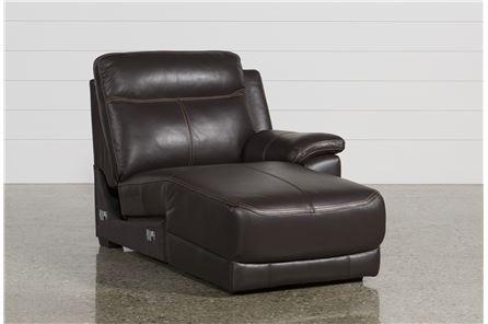 Courtney Walnut Right Facing Power Chaise W/Usb - Main