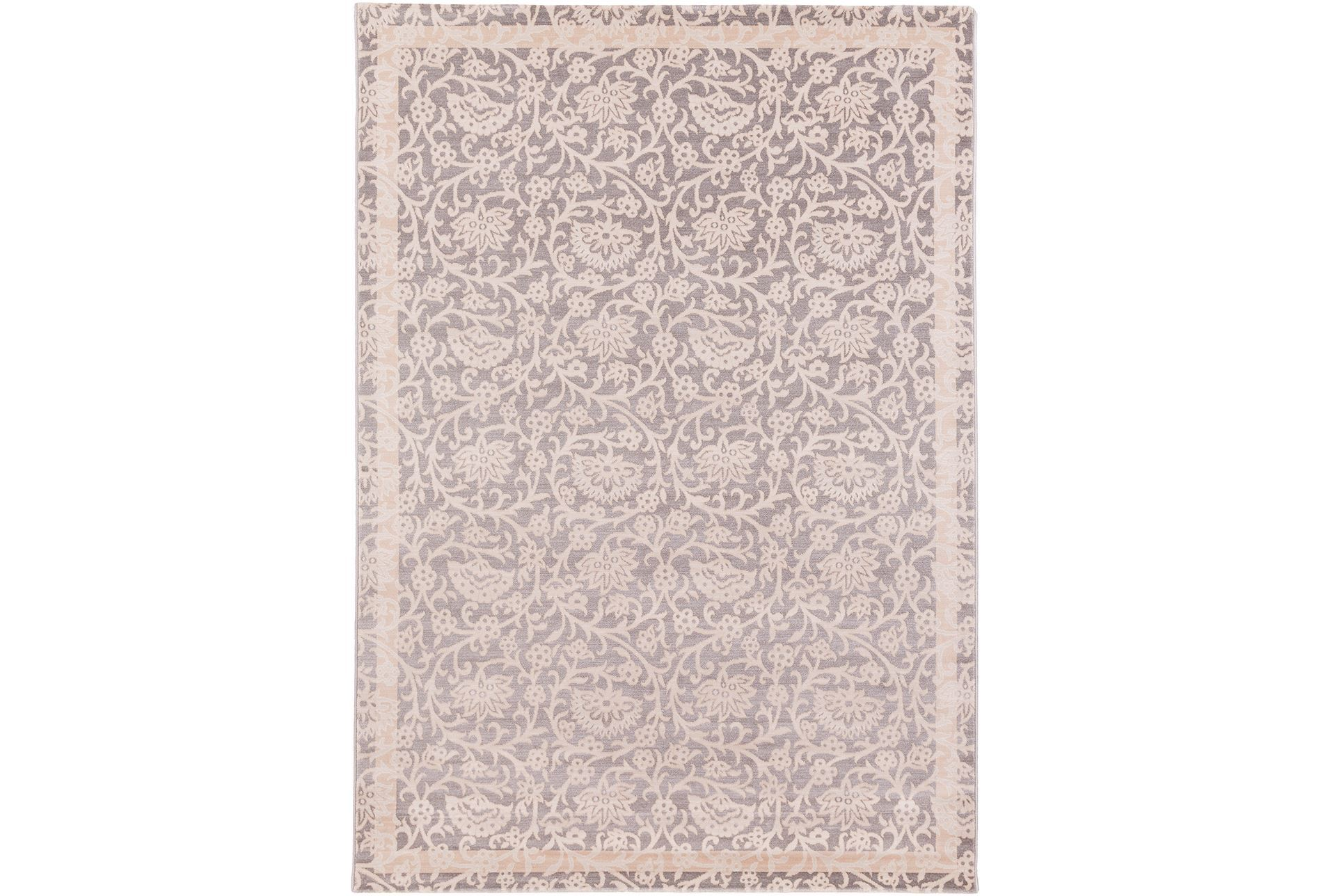 62x91 Promo Rug Ice Blue Floral Living Spaces