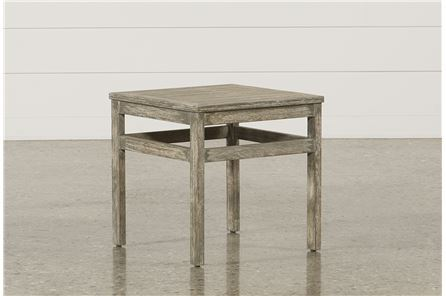 PompeII End Table W/Wood Top - Main