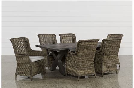 Tortuga 7 Piece Outdoor Dining Set W/Aventura Side Chairs - Main