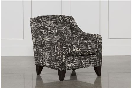 Hallie II Marquis Charcoal Accent Chair - Main