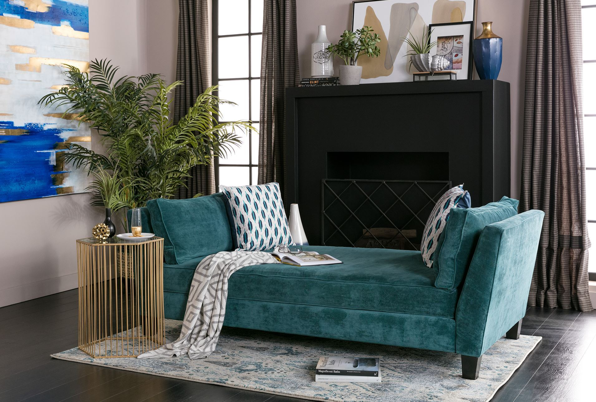 Seth daybed lounge living spaces - Daybed in living room ...