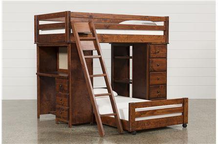 Sedona Twin/Twin Loft Bunk W/Chest & Desk