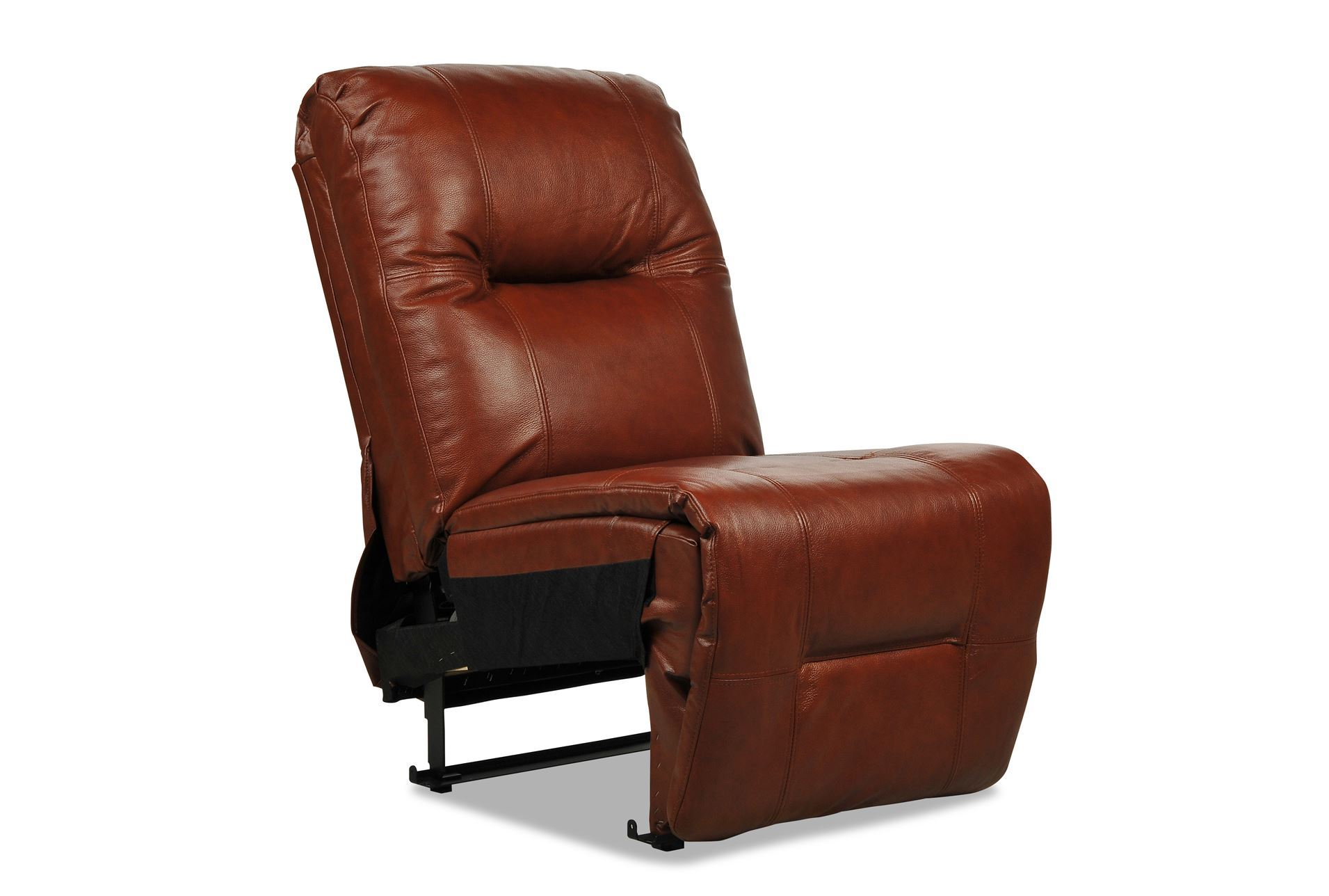 ashton leather armless chair living spaces