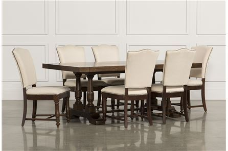 Arlo 7 Piece Upholstered Dining Set - Main