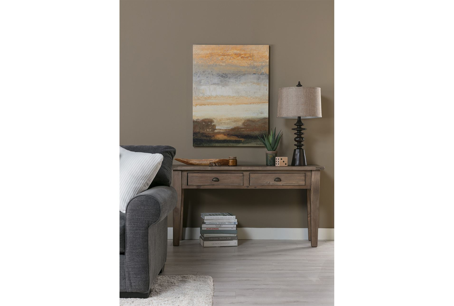 Ashburn console table living spaces for Living spaces sofa table