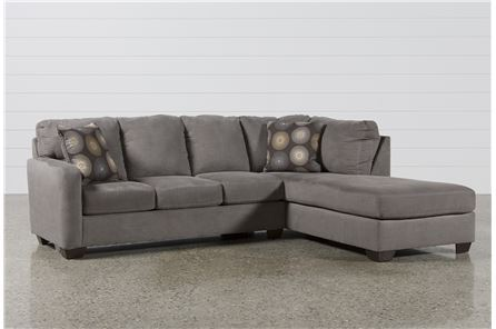 Zella Charcoal 2 Piece Sectional W/Raf Chaise - Main