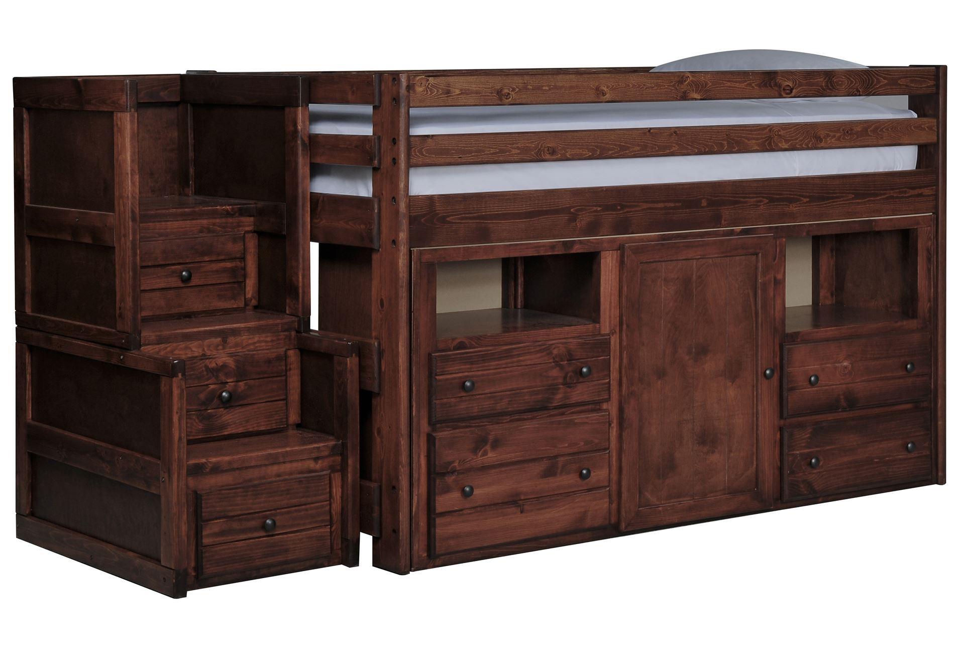 Sedona Junior Loft Storage Bed W Junior Stair Chest