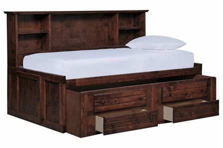 Sedona Twin Roomsaver Bed W/2- Drawer Captains Trundle - Main