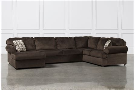 Jessa Place Chocolate 3 Piece Sectional W/Laf Chaise - Main