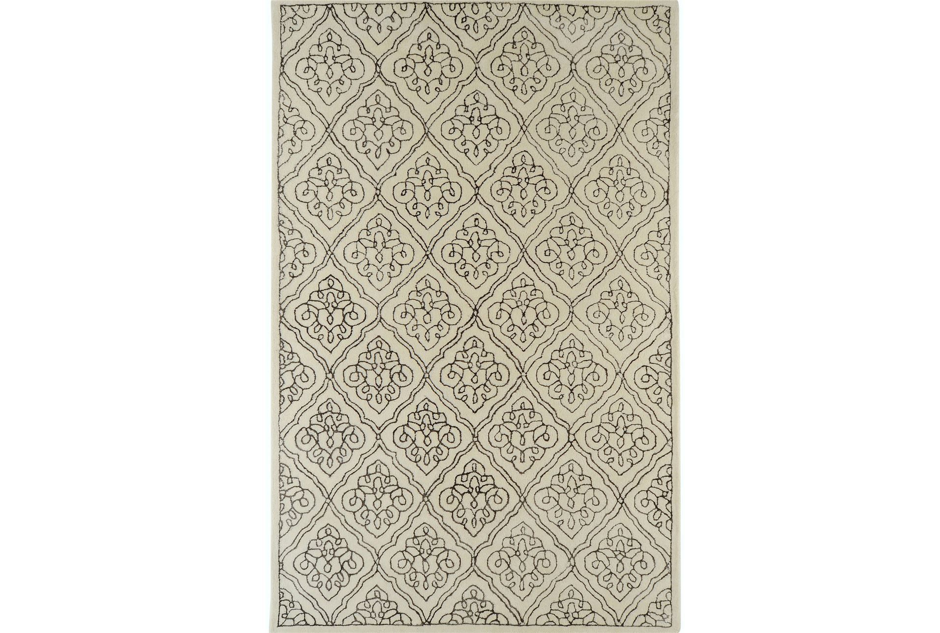 60x96 rug modern class brown living spaces for Living spaces rugs