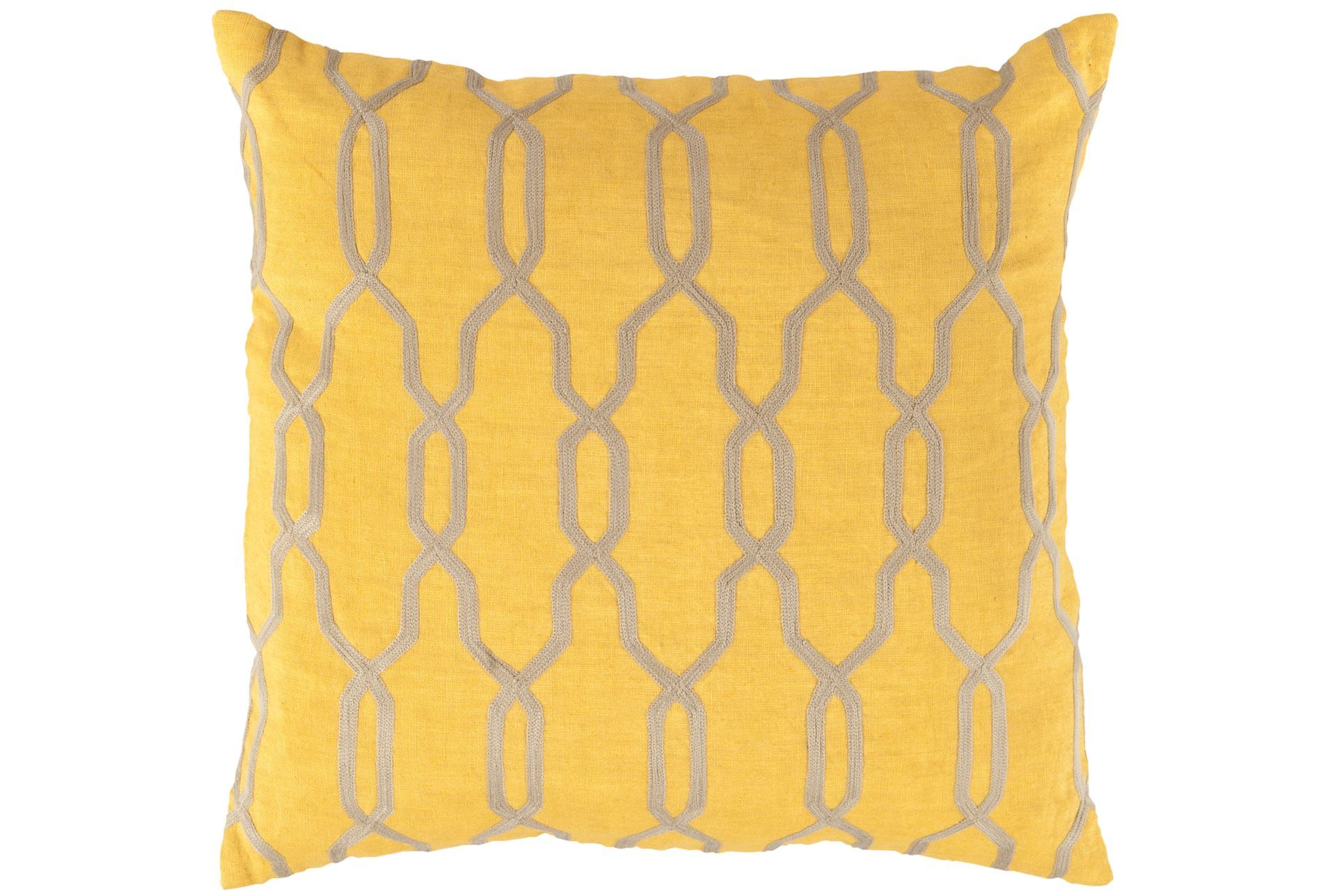 Decorative Pillows Living Spaces : Accent Pillow-Chains Geo Yellow 18X18 - Living Spaces