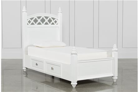 Jolie Twin Poster W/1 Side Storage Bed - Main