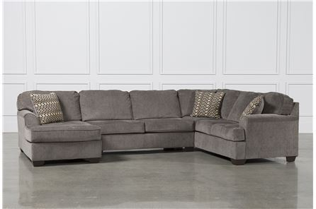 Loric Smoke 3 Piece Sectional W/Laf Chaise - Main