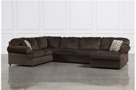 Jessa Place Chocolate 3 Piece Sectional W/Raf Chaise - Main
