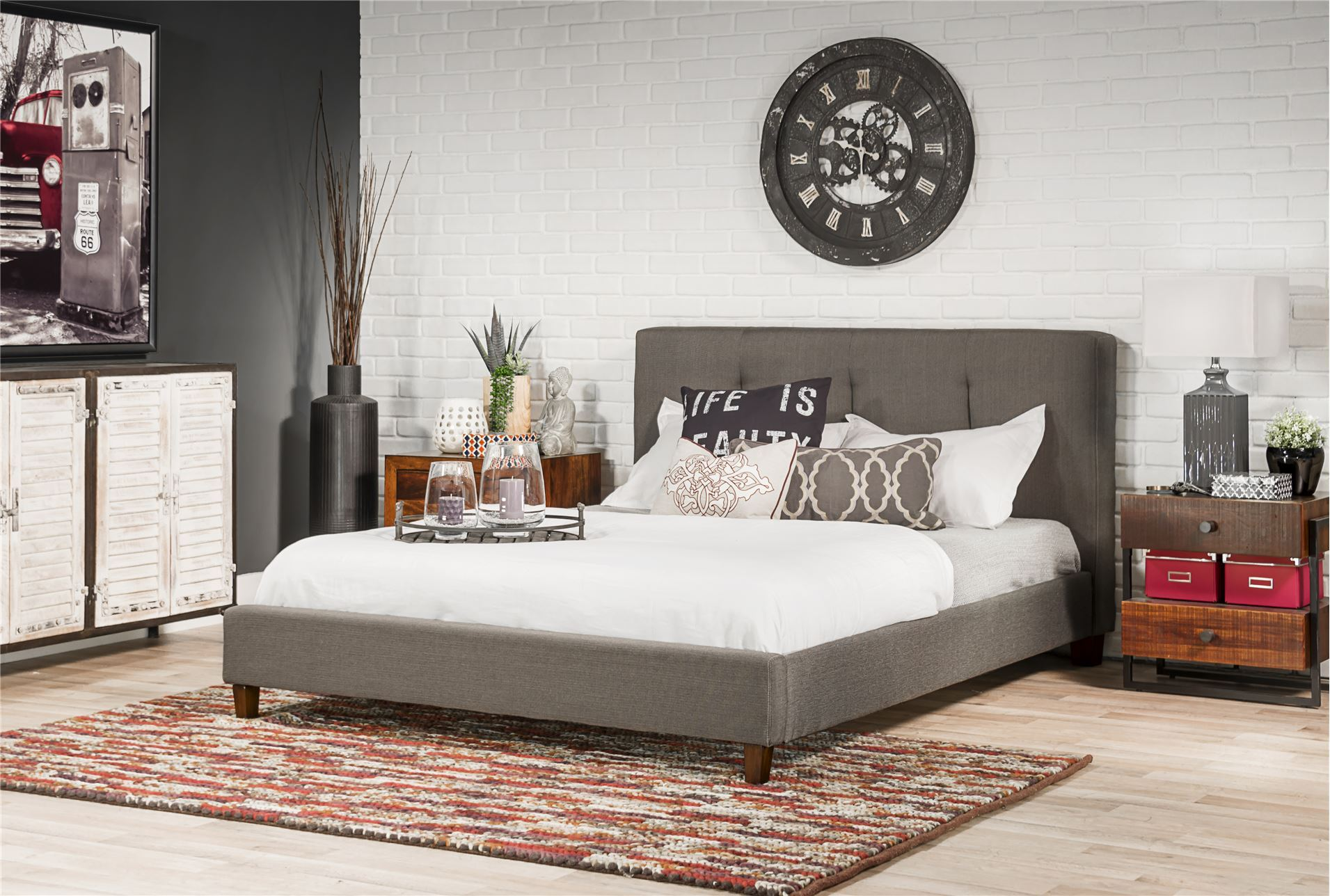 Home Additionally Oak King Ashley Furniture Off White Bedroom Set