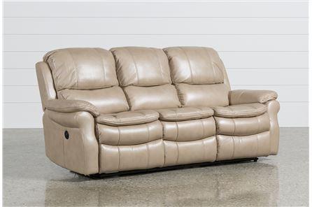 Salinger Sand Power Dual Reclining Sofa - Main