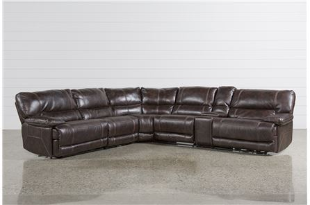 Marx Nutmeg 6 Piece Power Reclining Sectional - Main