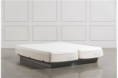 Cloud supreme breeze california king split mattress for Living spaces mattress reviews