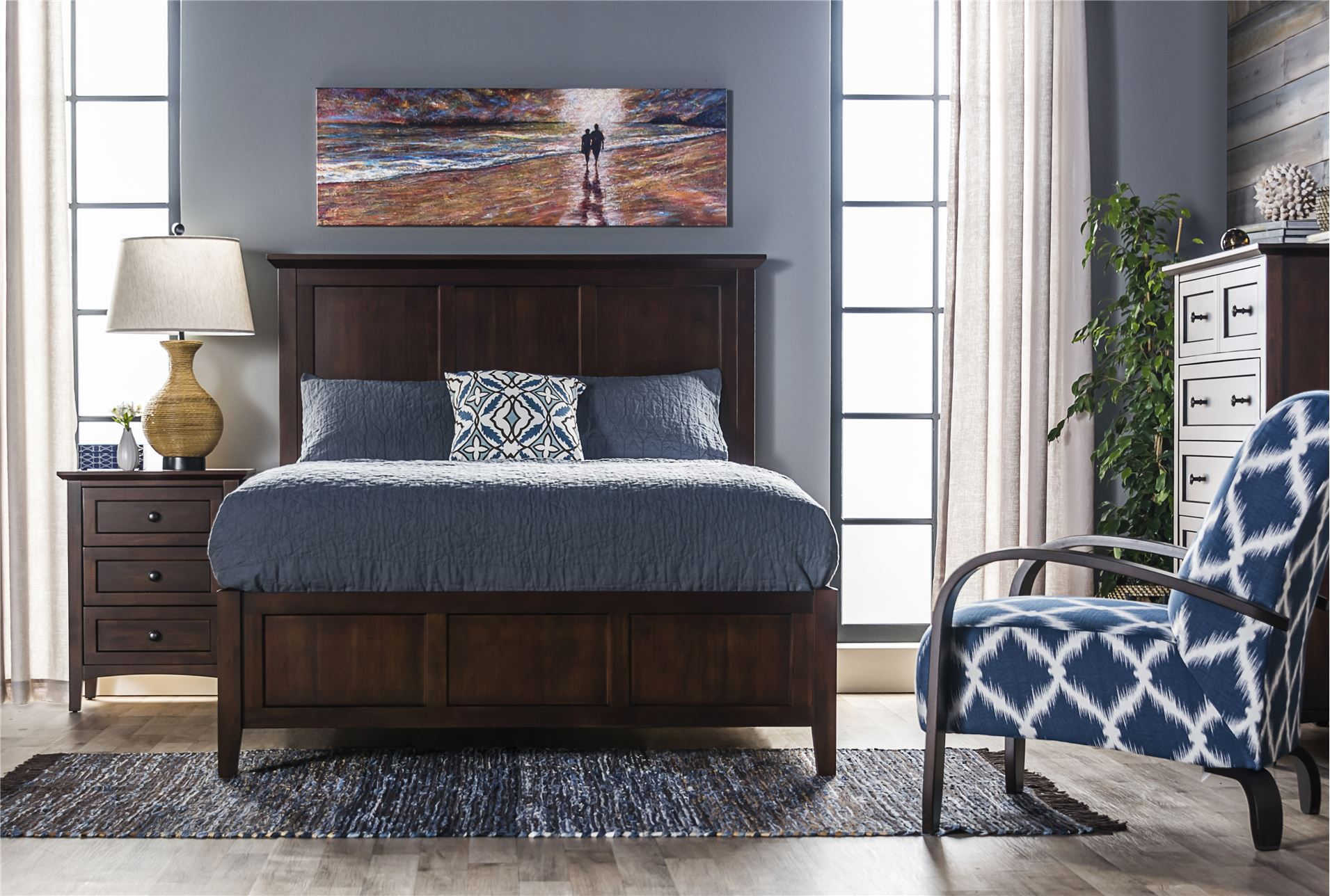 Copenhagen Brown Full Panel Bed Living Spaces