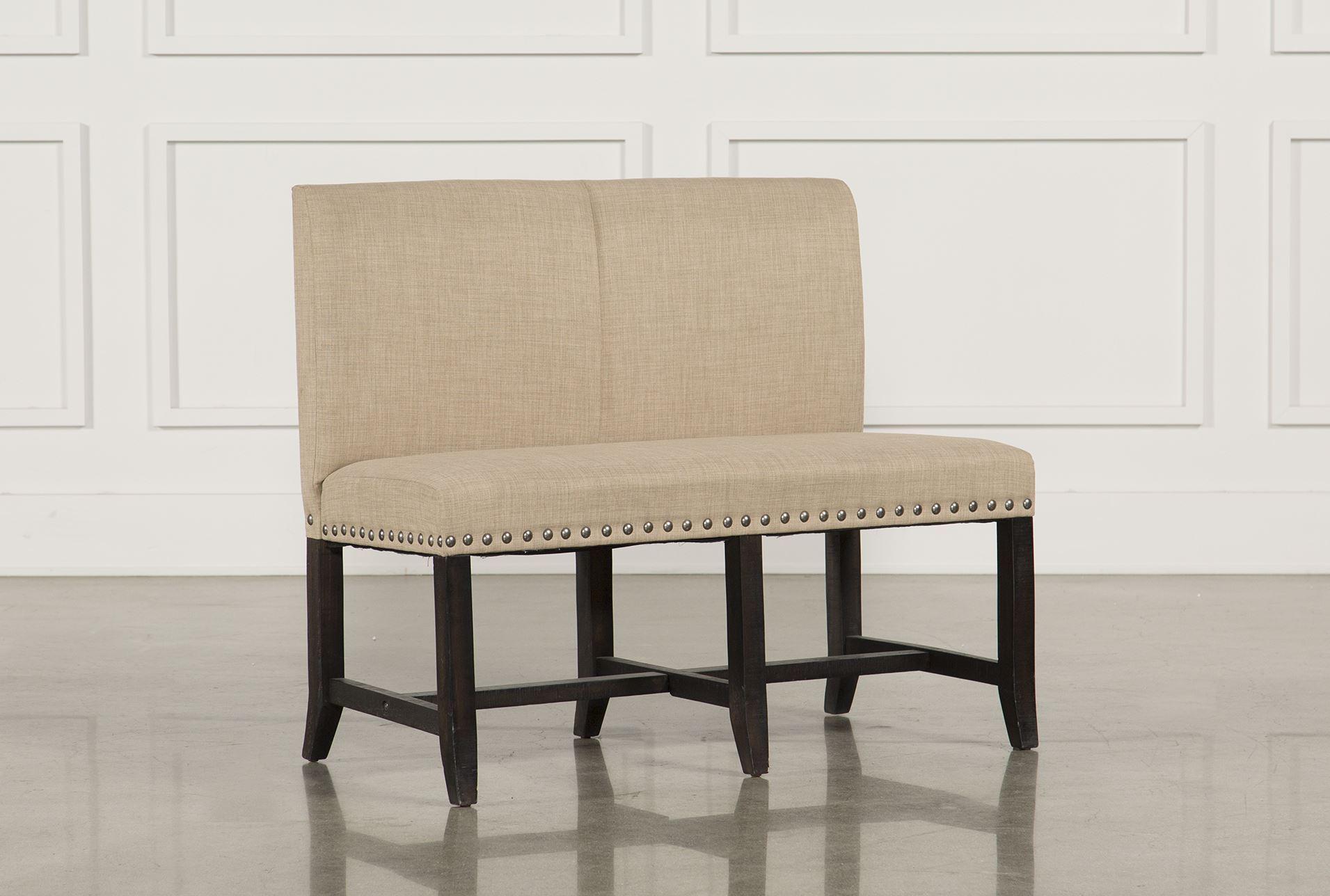 jaxon upholstered high back bench living spaces