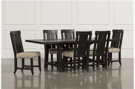 Jaxon 7 Piece Rectangle Dining Set W/Wood Chairs - Main