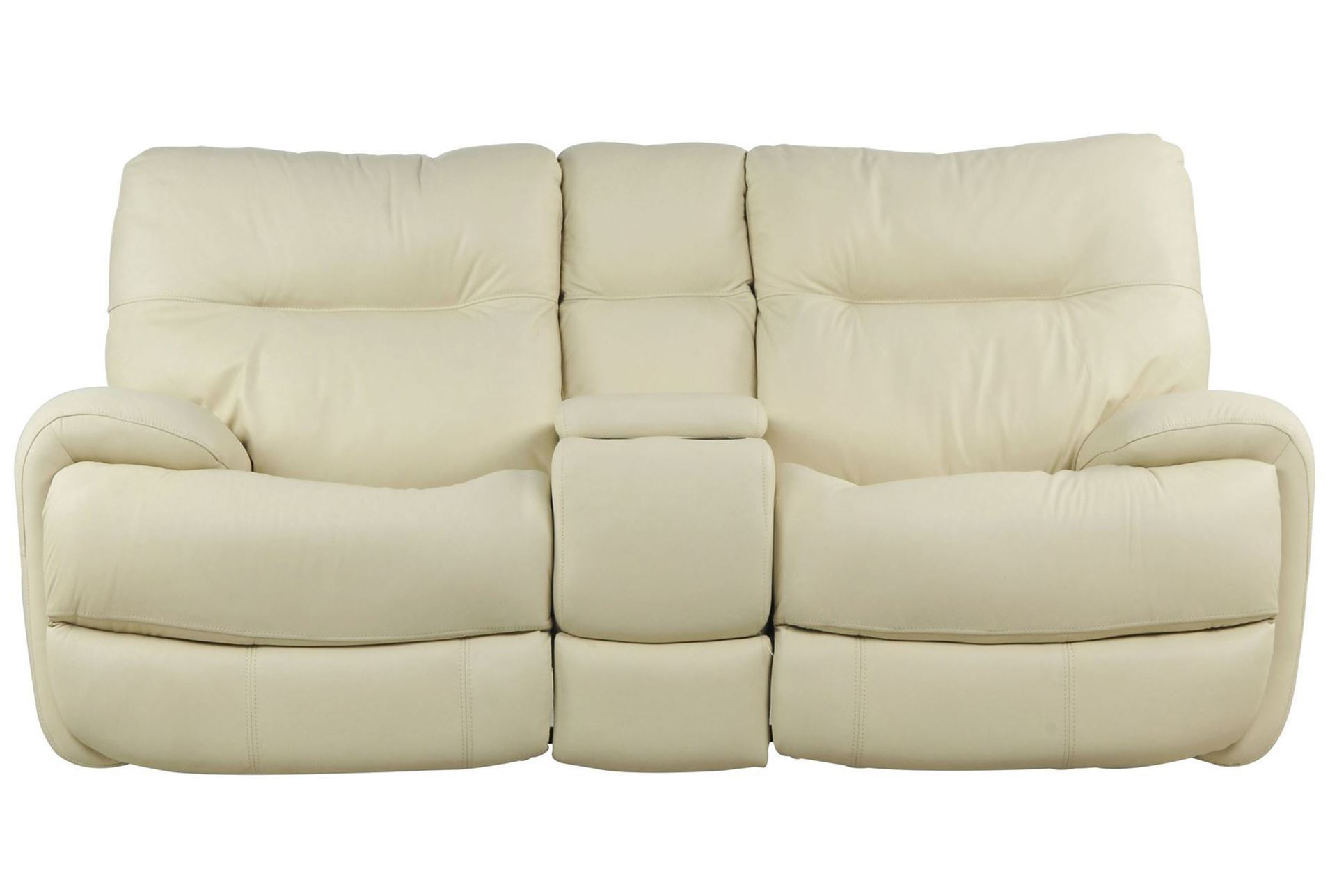 Oliver Ivory Power Reclining Loveseat W Console Living Spaces