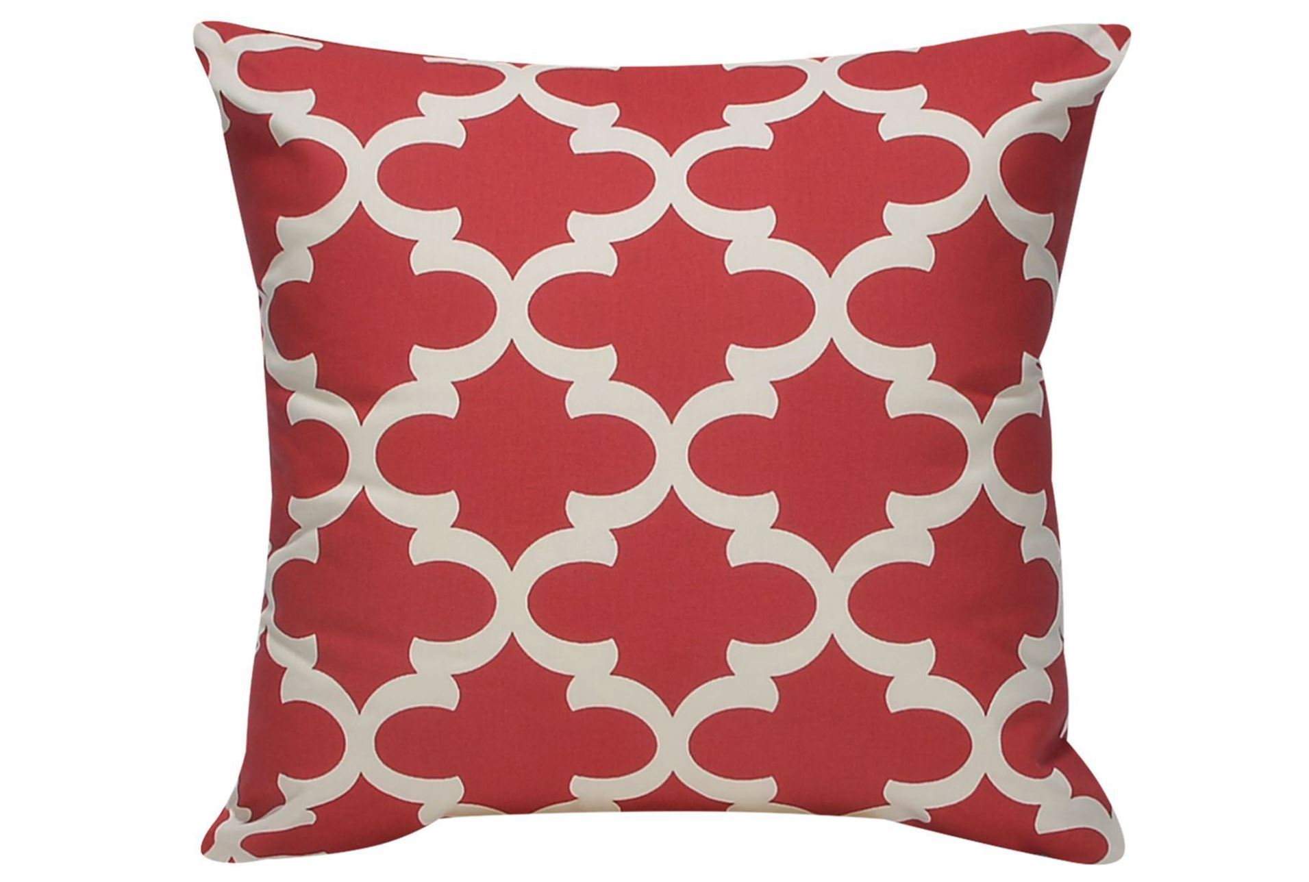 Decorative Pillows Living Spaces : Accent Pillow-Red Geo 22X22 - Living Spaces