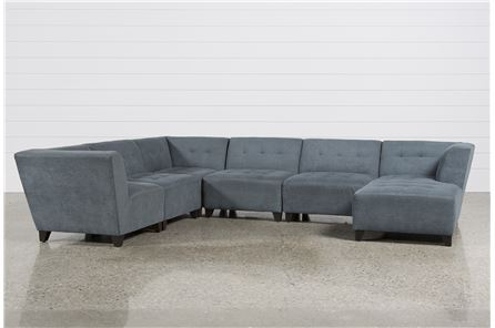 Maxwell 6 Piece Sectional W/Raf Chaise - Main