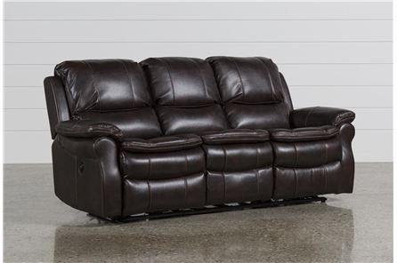 Salinger Nutmeg Power Dual Reclining Sofa - Main