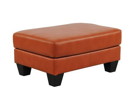 Paulie Orange Ottoman Signature