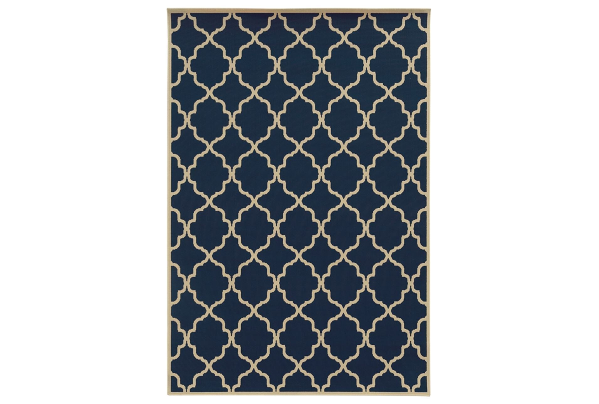 94x130 outdoor rug montauk navy living spaces for Living spaces rugs