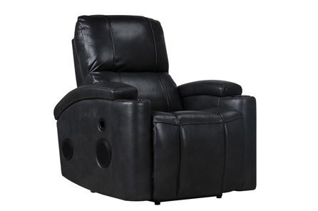 Dempsey Charcoal Power Recliner W/Bluetooth - Main