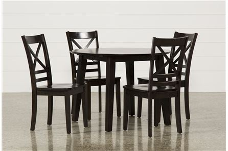 Roxy Espresso 5 Piece Round Dining Set - Main