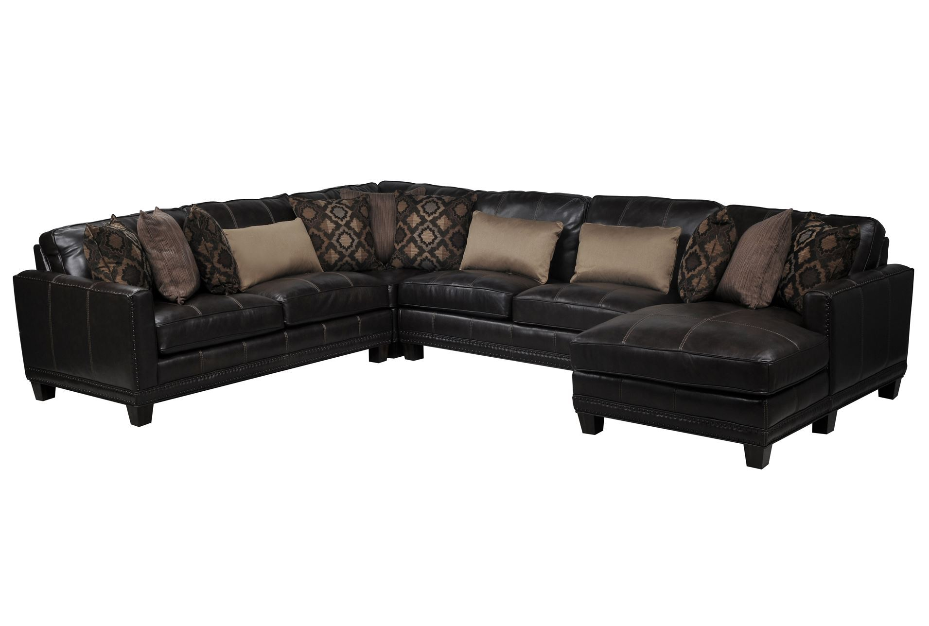 Barnaby 4 piece sectional w raf chaise living spaces for 4 piece sectional with chaise