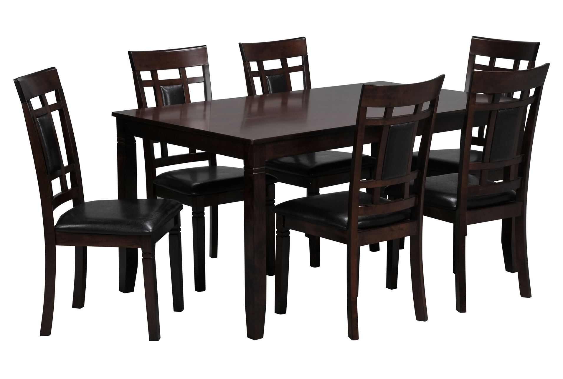 7 piece rectangle dining set living spaces for 7 piece living room set with tv