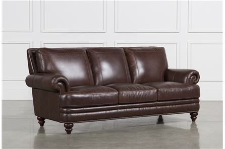shop leather sofas online leather sofas for sale living spaces. Black Bedroom Furniture Sets. Home Design Ideas