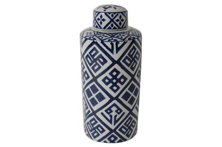 Blue Gold Metal Vase Small Living Spaces