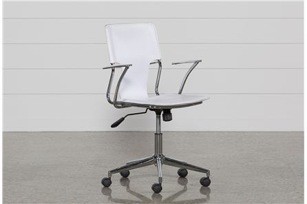 Miley White Office Chair - Main
