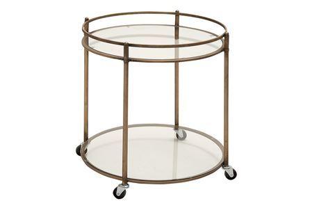 Metal & Glass Tea Cart - Main