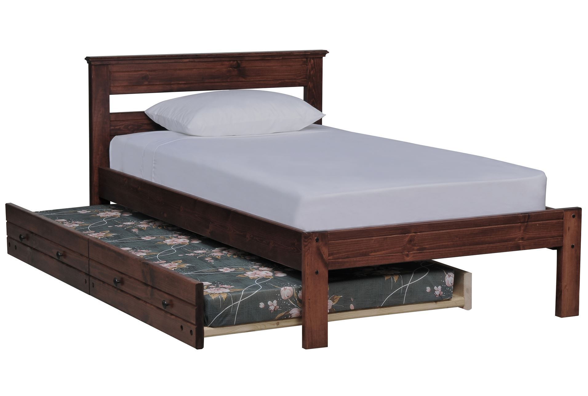 sedona twin platform bed w trundle mattress living spaces. Black Bedroom Furniture Sets. Home Design Ideas