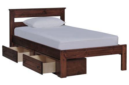 Sedona Twin Platform Bed W/Single 2- Drawer Storage Unit - Main