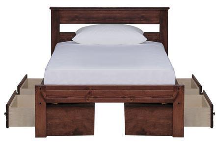 Sedona Twin Platform Bed W/Double 2- Drawer Storage Unit - Main