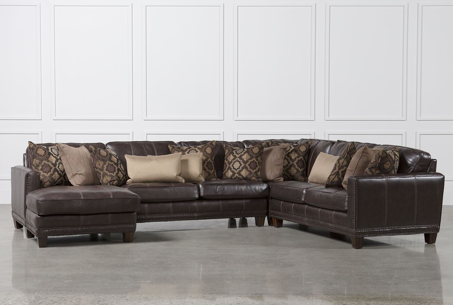 Barnaby 4 piece sectional w laf chaise living spaces for 4 piece sectional with chaise