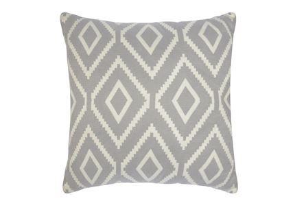 Accent Pillow-Grey Diamond Knit 20X20