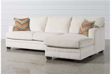 Carson Cream 2 Piece Sectional W/Raf Chaise - Main